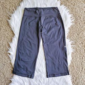 Lululemon Black Wide Leg Drawstring Capri Pants